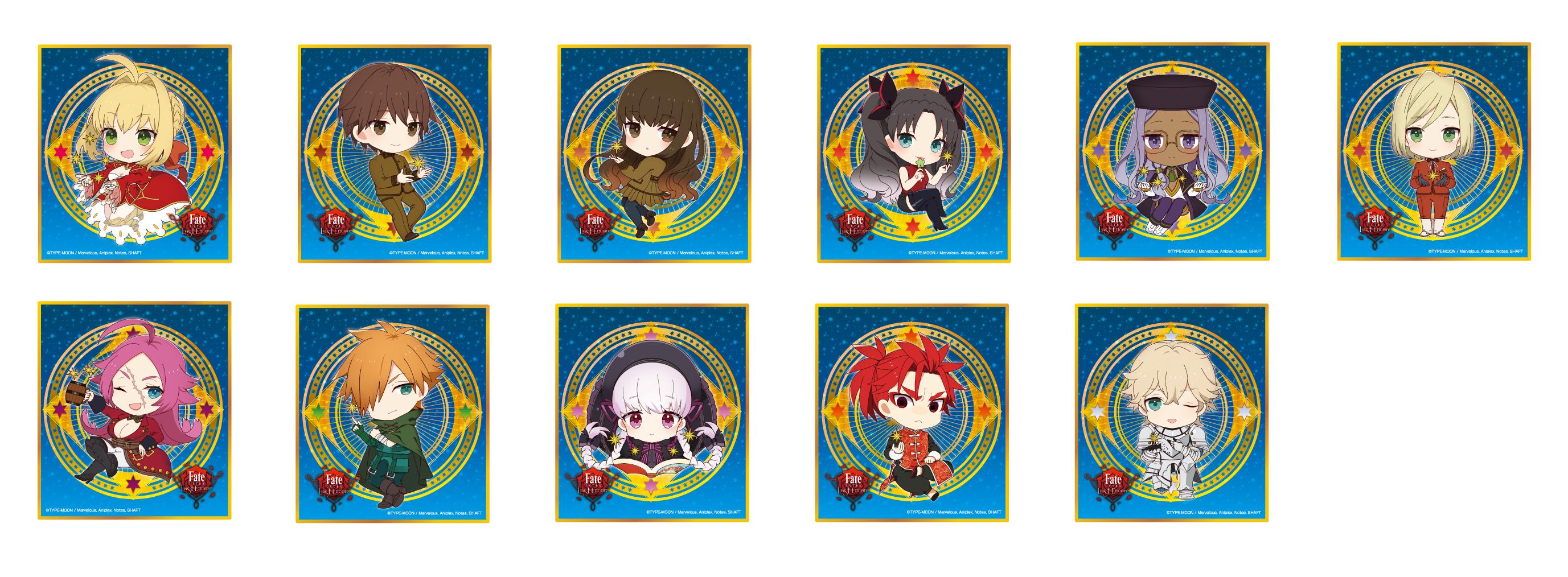 Fate/EXTRA Last Encore 5月イベント TRミニ色紙 11種